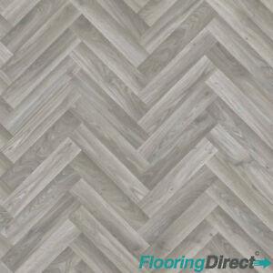 Quality Vinyl Flooring 4mm Thick Kitchen Bathroom Luxury Lino Grey Oak Chevron Ebay