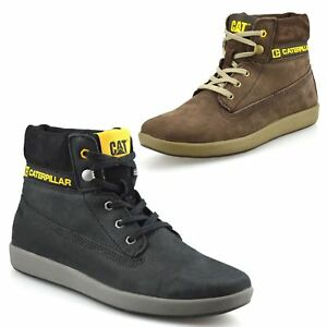 Boys Kids New Caterpillar Leather Lace Up School Ankle Boots Trainers Shoes Size
