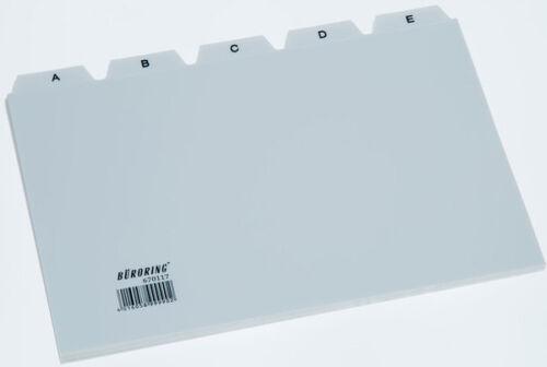 Büroring Leitregister A5 A-Z PP 25-tlg Leitkarten Karteikarten-Register 670117