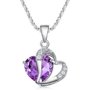 Top-Herz-lila-Kristall-Zirkonia-Anhaenger-mit-Halskette-aus-925-Silber-Beutel