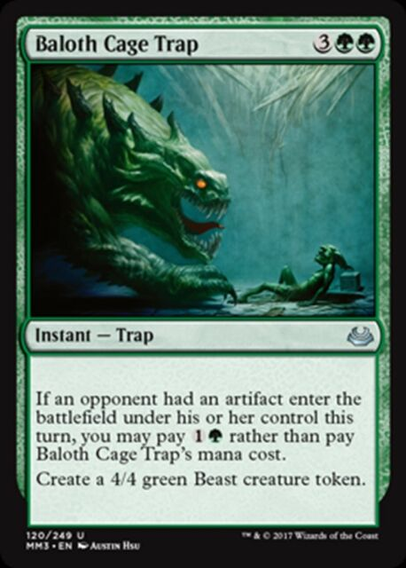 MTG Magic - (U) Modern Masters 2017 - Baloth Cage Trap - NM