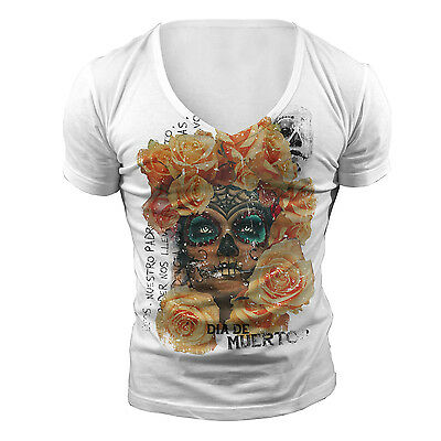 DEEP V NECK MEXICO TSHIRT T SHIRT TOP NEW WHITE TOWIE GEORDIE SHORE MUSCLE VEST