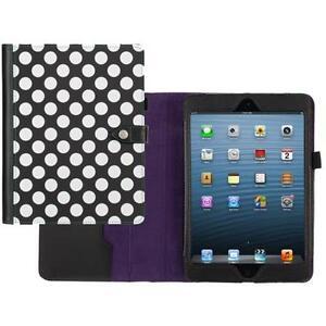 iPad-Mini-2-Polka-Dot-etui-etui-par-Griffin-Noir-Blanc-Violet