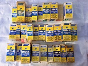 NEW-OLD-STOCK-NORTON-INDIA-USA-FILE-SHARPENING-OIL-STONE-ALL-SIZES-GRITS-SHAPES