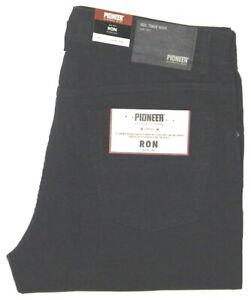 Pioneer-Ron-Stretch-W38-L34-Herren-Sommer-Jeanshose-Schwarz-1144-3848-11-1-Wahl