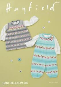 0f5f09f3510c Image is loading Sirdar-4844-Knitting-Pattern-Baby-Dungarees-Pinafore-in-