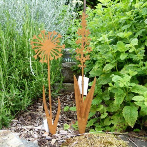 Edelrost Blume Metallstecker Hyazinthe Pusteblume 30 cm Rostblume Dio Garten