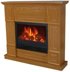 Details About Clic Golden Oak Electric Fireplace W 44 Mantle Fireplaces Heater Mantel New