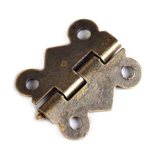 20//40 Boîte à bijoux en laiton antique Charnière Papillon petite charnière 20x17mm avec vis