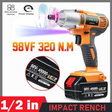 High Power Cordless Electric Impact Wrench Gun 12 Driver 330nmli Ion Battery