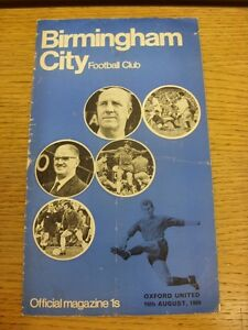 16-08-1969-Birmingham-City-v-Oxford-United-Heavy-Creased-Folded-Worn-Marked