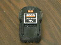 "RIDGID 18V LI-ION CORDLESS ""PARTS"" BATTERY - BATTERY FOR REBUILDING #130383031"