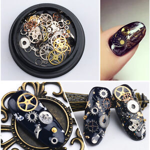 DIY-3D-Time-Steam-Punk-Style-Gold-Metal-Studs-DIY-Decoration-Nail-Art-Wheel