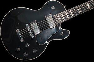 Vintage-1973-Hagstrom-Swede-Electric-Guitar-Black-W-Original-Hard-Case