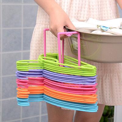 Smart Design Plastic Clothes Organizer Hanger Holder Stacker Storage Racks
