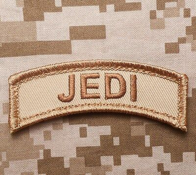 JEDI ARMY TAB TACTICAL INFIDEL BADGE DESERT VELCRO® BRAND FASTENER PATCH