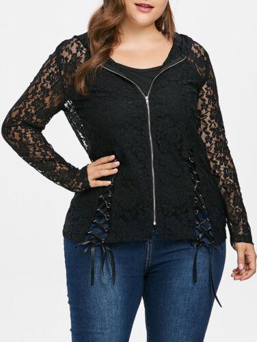 Vest Womens Ladies Slim Suit Blazer Coat Lace Crochet Jacket Cardigan Outwear