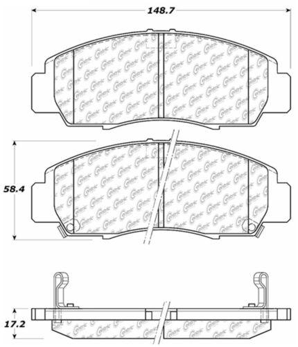 Disc Brake Pad Set Front Centric 105.07870