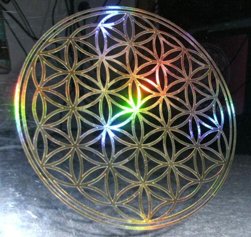 Fleur de vie Holographique Aluminium FX DECALS DIVERSES COULEURS