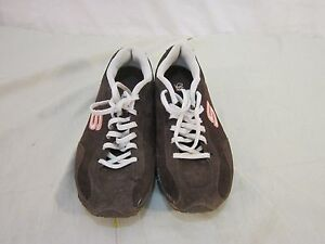 SKECHERS WOMEN'S TOFFEE BROWN/BEIGE LACE UP LEATHER SNEAKER/TENNIS SHOES SIZE 8