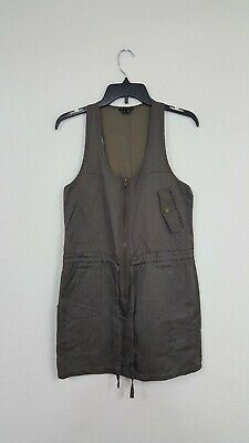 Clothing, Shoes & Accessories Theory Ramie Charcoal Slate Romper Pocket Dress Women's Size 2 Women's Clothing