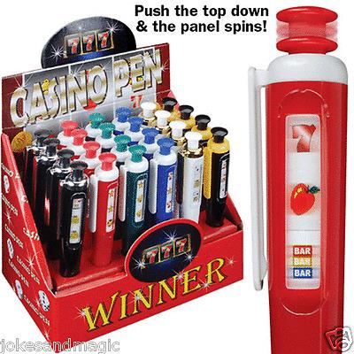 Casino Pen Las Vegas Slot Machine party ink pen gift 6