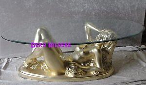 Frauen Akt Erotik Tisch Couchtisch Figur Tischfus Skulptur
