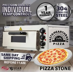 Commercial Pizza Deck Oven - Single - Countertop - Electric - Stone Base