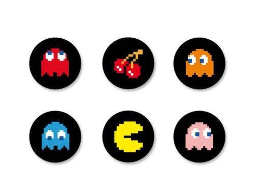Lot Magnet Aimant Ø38mm Retro Game Arcade Vintage Geek Gamer Jeux Gaming PacMan