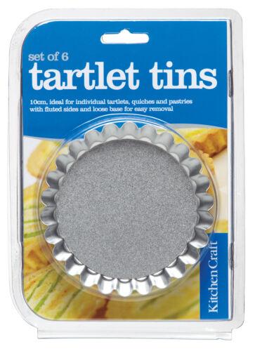 Kitchen Craft Lot de 6 10cm loose bas réalisez tous quiche cuisson tins