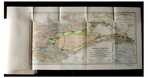 1925-Aurel-Stein-INNERMOST-ASIA-Archaeological-PRE-BOOK-Color-Maps-5-6