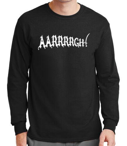 1307C Tee Arrrrrgh Aarrrrgh Mens Long Sleeve Tshirt Anger expression Arrgh