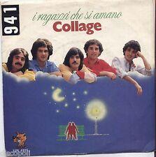 """COLLAGE - I ragazzi che si amano - VINYL 7"""" 45 LP 1981 NEAR MINT COVER VG+"""