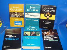 Lote de libros Suspense, novela negra, grandes autores variado-observa las fotos