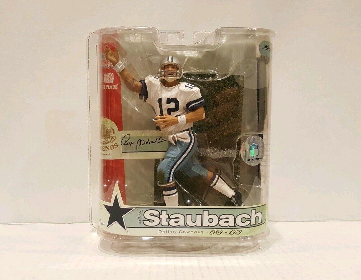 Mcfarlane giocattoli NFL Legends Series 3  Rodger Staubach Dtuttias Cowboys cifra 2007  più sconto