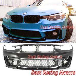 M3 F80 Style Front Bumper Performance Style Lip Fog Fit 12 18