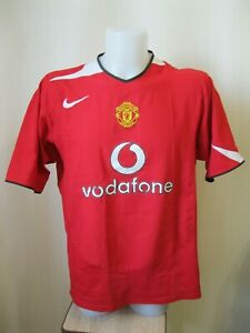 the best attitude 9d38a 71ad0 Details about Manchester United 2004/2005/2006 Size XL Home Nike shirt  jersey football soccer