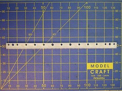 crémaillère module M 0,5 L 125 mm x H 7 mm pour modélisme train maquette décor