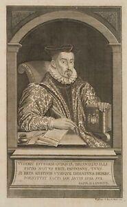 J. G. WOLFFGANG (1662-1744 Berlin) Bildnis Jean Papire Masson, franz. Humanist