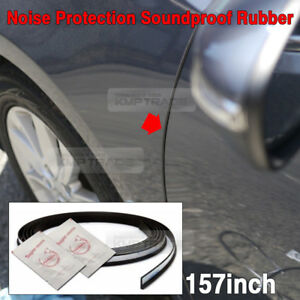 Noise Protection Soundproof Rubber Strip Sill Trim Molding 157inch for BMW Car
