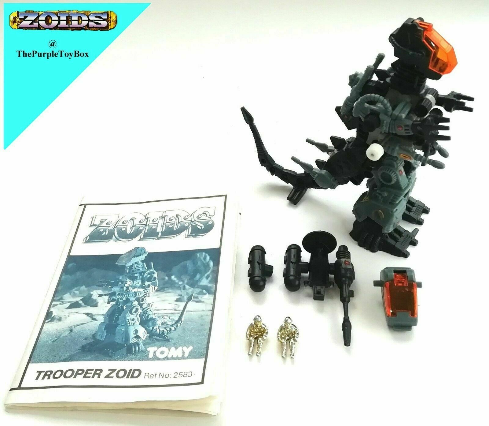 1980's Tomy Zoids - TROOPER ZOID con istruzioni with instructions no Mattel