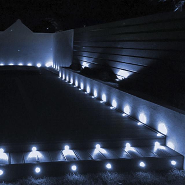 20er 20er 20er Set Ø31mm LED Einbauleuchte Einbaustrahler Außen Garten Lampe Kaltweiß IP67   Lebhaft    Online Outlet Store    Geeignet für Farbe  99bc13