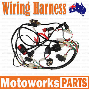 full electrics wiring harness 50cc 70cc 110cc 125cc atv quad bike image is loading full electrics wiring harness 50cc 70cc 110cc 125cc