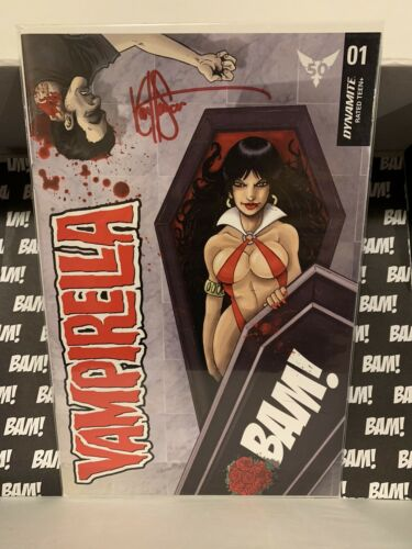Vampirella Signed Auto Ken Haesar Bam Box Horror Exclusive COA