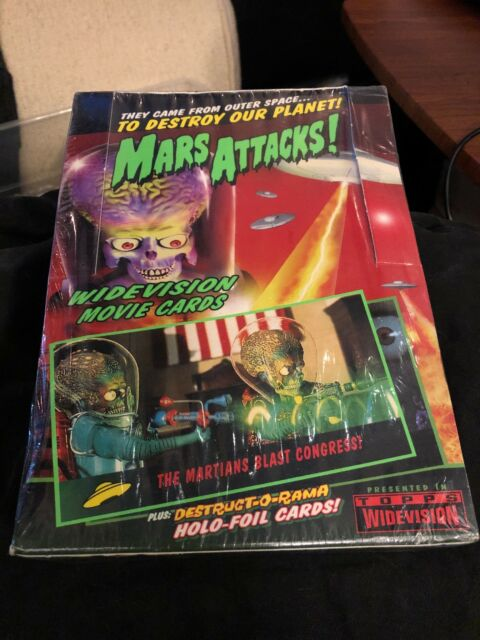 Mars Attacks Widevision 1996 Topps Trading Cards Box-Sealed in Factory