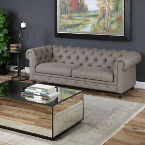Image Is Loading 86 034 W Sarah Sofa Clic Chesterfield Rolled