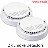 2 X Wireless Smoke Detector Home Security Fire Alarm Sensor System Cordless Us