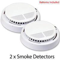 2 X Wireless Smoke Detector Home Security Fire Alarm Sensor System Cordless Us