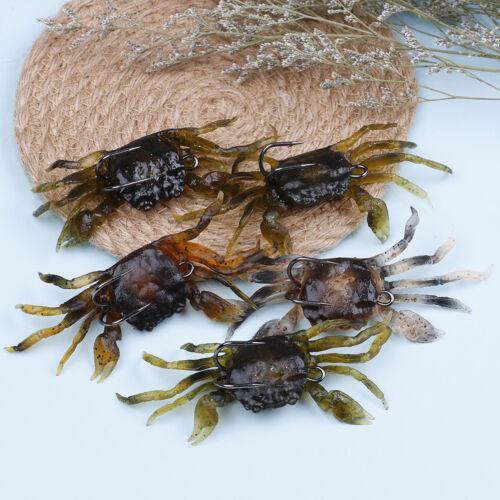 Crankbaits Hakengerät Simulationsköder 3d weiche Krabben Fischköder Wurm luTPI