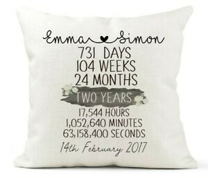 Personalised Cushion 2nd Year Anniversary Gift Days Weeks Months Seconds Etc Ebay,Types Of Hamsters Breed